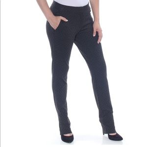 Amanda + Chelsea Check Print Zip Pocket Pants slim